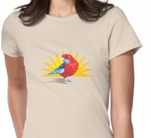 Crimson Rosella Womens Fitted T-Shirt