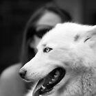 Love her dog by Caroline Gorka