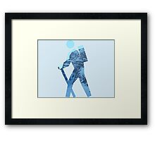Alpine Hiker Framed Print