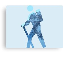 Alpine Hiker Canvas Print