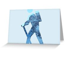 Alpine Hiker Greeting Card