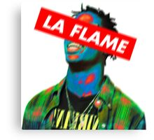 Travi$ Scott LA FLM (NEON) Canvas Print