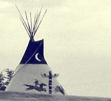 Teepee at Cherokee Trading Post by Shellibean1162