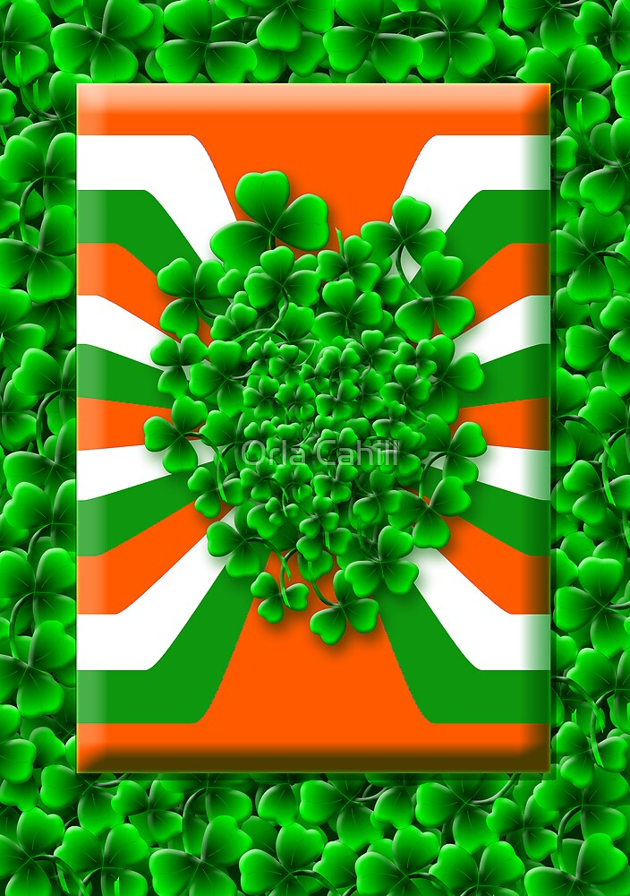 Bunch of Irish Shamrock for Saint Patrick's Day by Orla Cahill