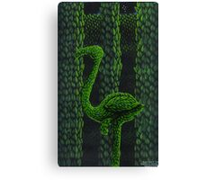 Flamingo Topiary Hedge (Laser Large Print) Canvas Print