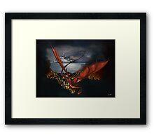 Smaug Terrorizes Laketown Framed Print