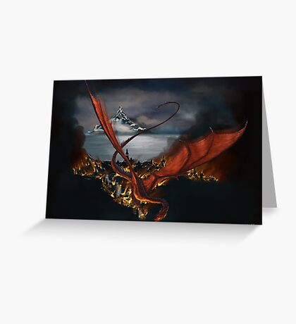 Smaug Terrorizes Laketown Greeting Card