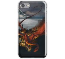 Smaug Terrorizes Laketown iPhone Case/Skin