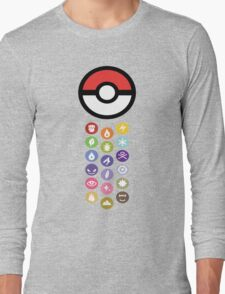Pokemon Types  Long Sleeve T-Shirt