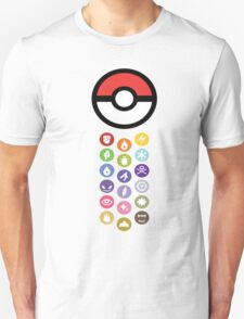 Pokemon Types  Unisex T-Shirt