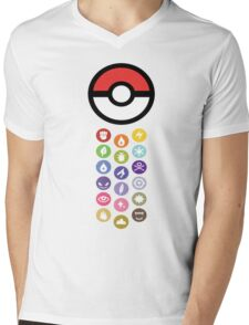 Pokemon Types  Mens V-Neck T-Shirt
