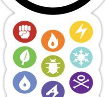 Pokemon Types  Sticker