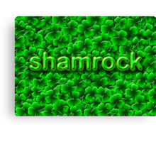 A Bed of Shamrock Canvas Print