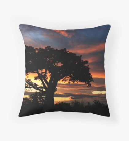 Botswana Sunset Throw Pillow