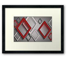 Modern Art Smart and Stylish Diamonds Framed Print