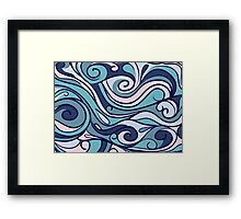 blue background Framed Print