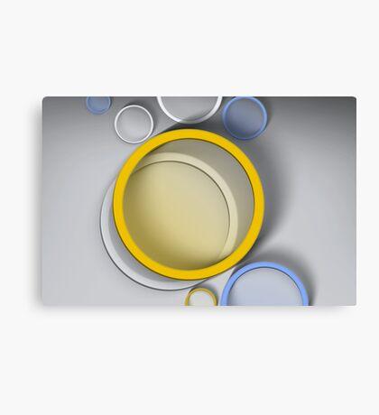 Modern Art Smart and Stylish Circles Canvas Print
