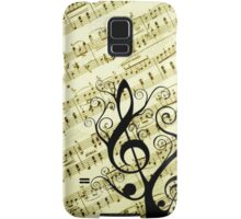 Music Notes Samsung Galaxy Case/Skin