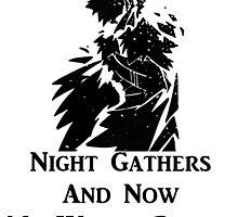 Jon Snow Night Gathers by kels86
