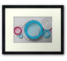 Modern Art Smart and Stylish Circles Framed Print