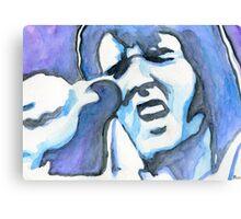 Blue Elvis Canvas Print