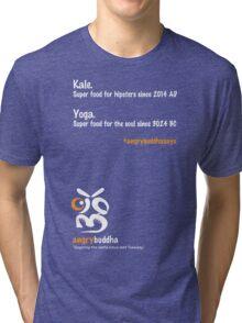 Yoga - Super food for the Soul (Dark) Tri-blend T-Shirt