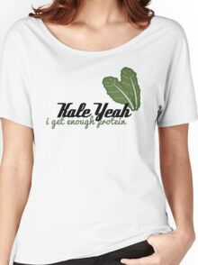 {Veg-Friendly T-Shirt} - Kale Yeah I Get Enough Protein Women's Relaxed Fit T-Shirt