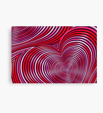 Modern Art Smart and Stylish Heart Shimmering Canvas Print