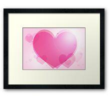 Modern Art Smart and Stylish Hearts Pink Framed Print