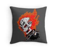 Motorista Fantasma Throw Pillow