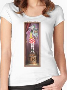 Haunted Arkham: Barrel of Laughs Women's Fitted Scoop T-Shirt
