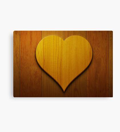 Wooden Heart Wall Art Canvas Print