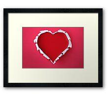 Modern Art Smart and Stylish Heart Shredded Framed Print