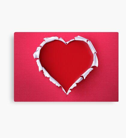 Modern Art Smart and Stylish Heart Shredded Canvas Print