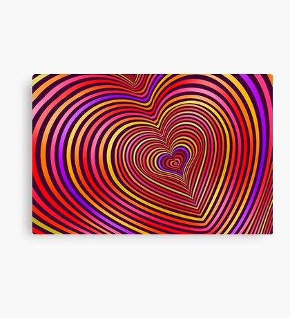 Modern Art Smart and Stylish Hearts Shimmering Canvas Print
