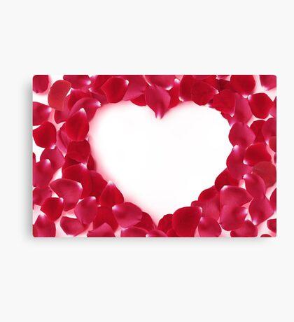 Modern Art Smart and Stylish Hearts Rose Petals Canvas Print