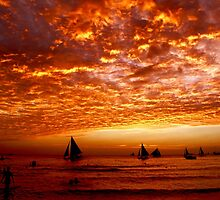 sky on fire by lensbaby