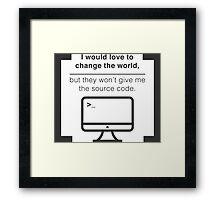 Change the world Framed Print