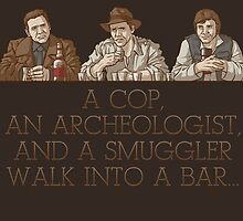 A Cop, an Archeologist, and a Smuggler by cs3ink