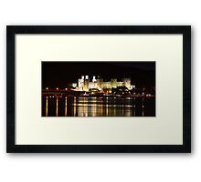 Conway Castle at night Framed Print