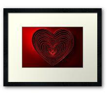 Modern Art Smart and Stylish Heart Framed Print