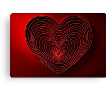 Modern Art Smart and Stylish Heart Canvas Print