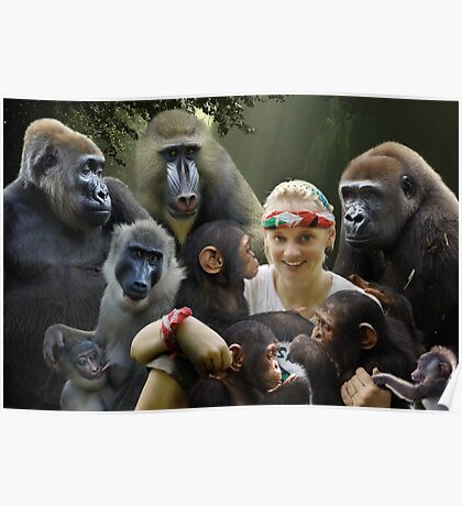 Jane and the Primates Poster