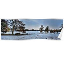 Blue Winter Pano~ Poster