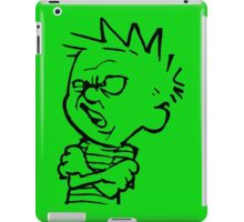 calvin and hobbes: eeeewwww iPad Case/Skin