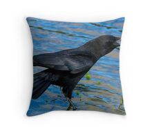 Calling All Crows Throw Pillow