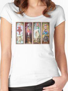 Haunted Arkham Asylum Women's Fitted Scoop T-Shirt