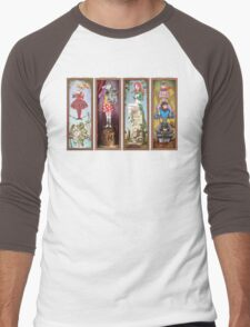 Haunted Arkham Asylum Men's Baseball ¾ T-Shirt
