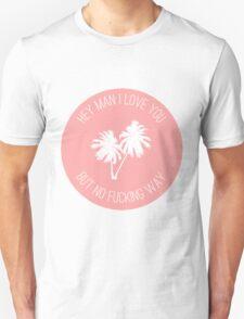 Twin Sized Mattress Lyrics (Peach) T-Shirt