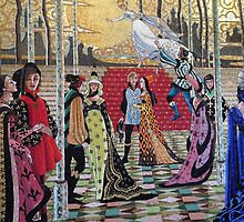 Cinderella Ball Castle Mosaic by schermer
